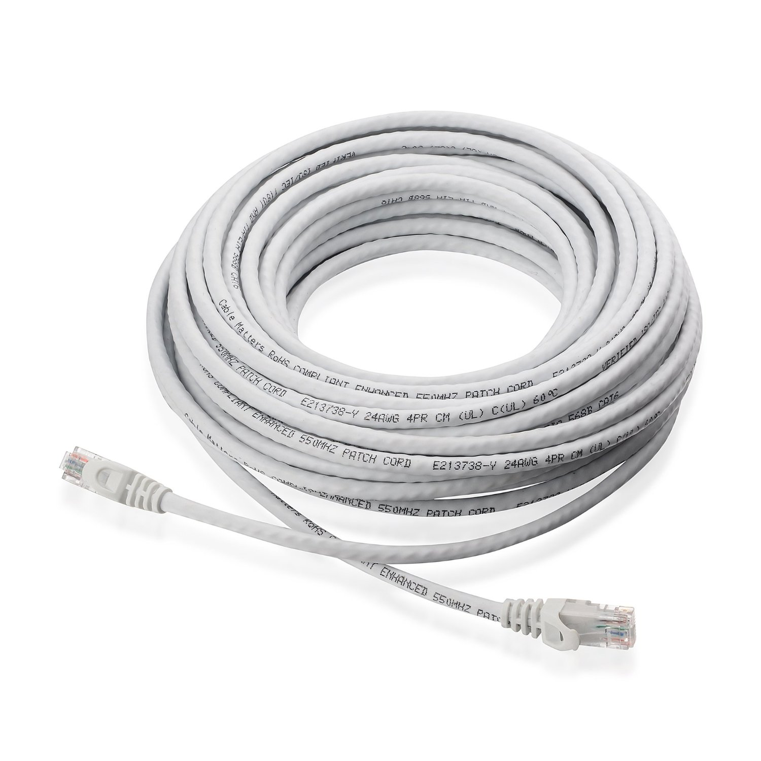 Cat6 Ethernet Cable White Adamlouis Data Wiring Small Business Accessories 1
